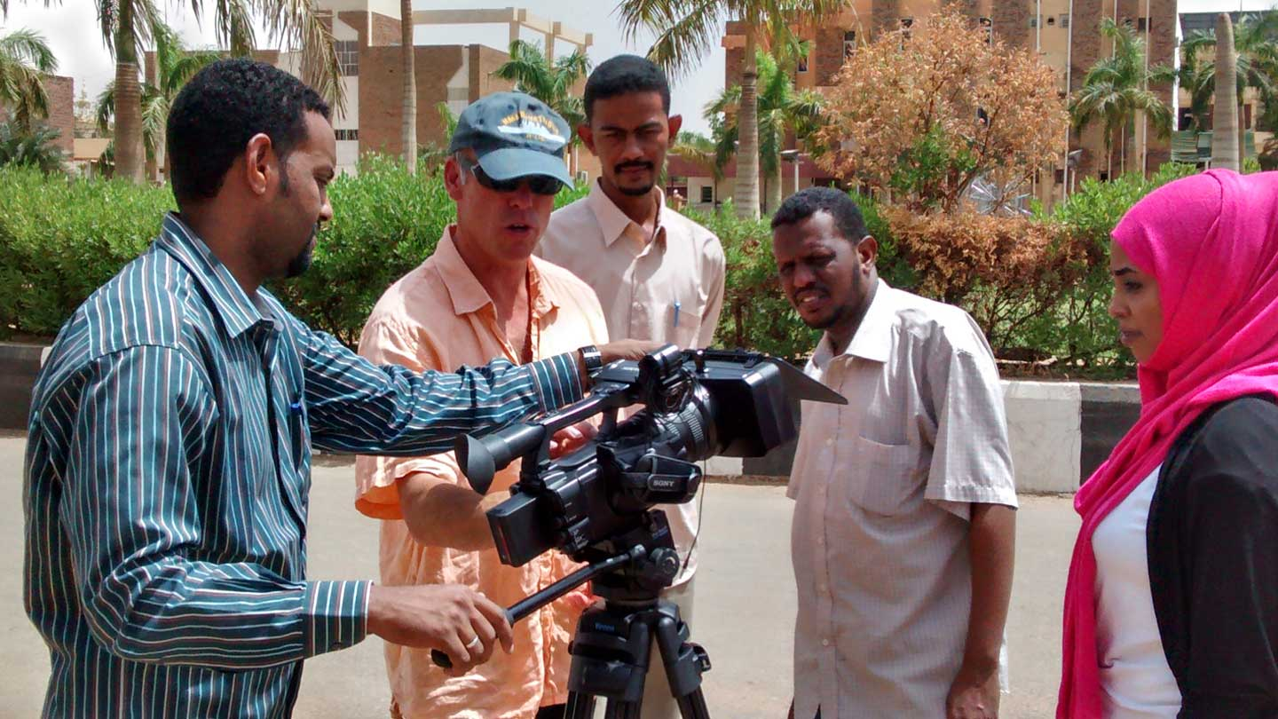 Camera skills training Sudan, part of media capacity building project